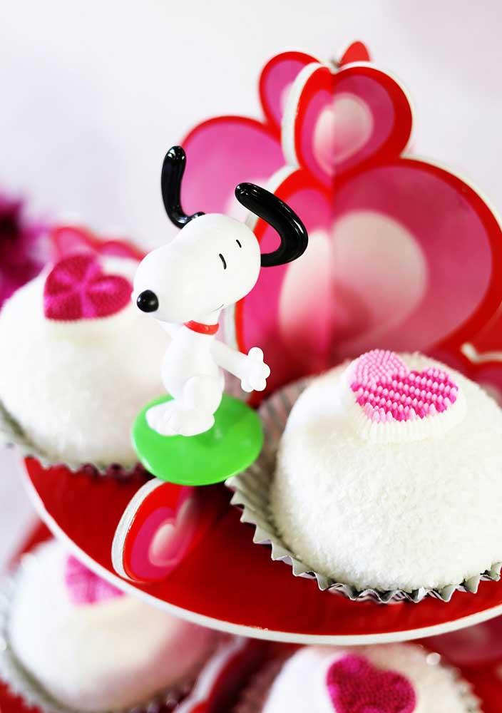 Totens do Snoopy para personalizar a bandeja dos doces