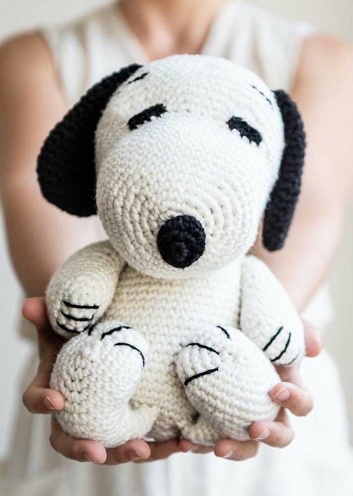 Pra cair de amores: amigurumi do Snoopy!