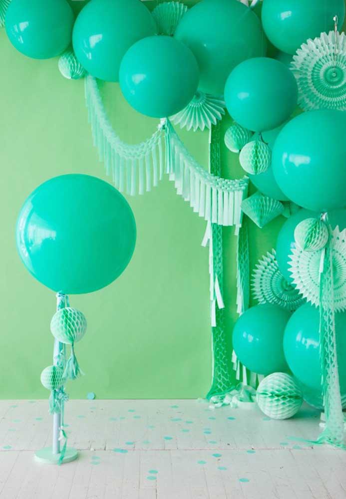 Na festa de São Patrício não podem faltar balões verdes