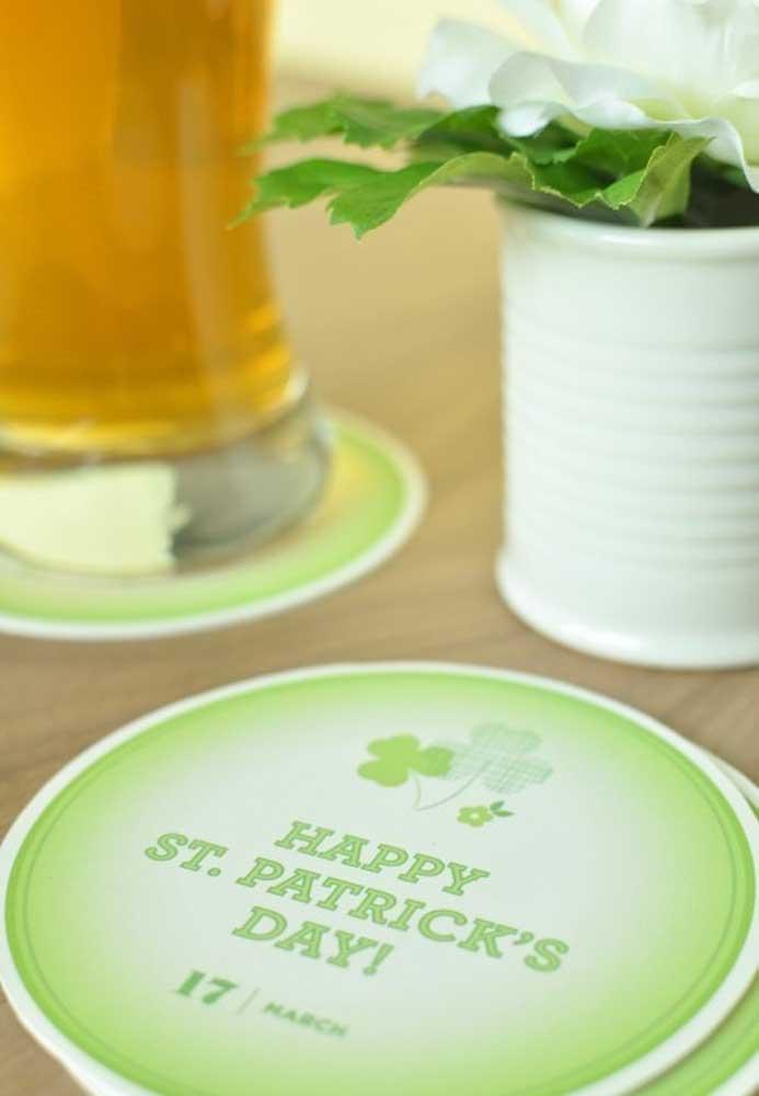 Porta copos personalizado para o dia de São Patrício