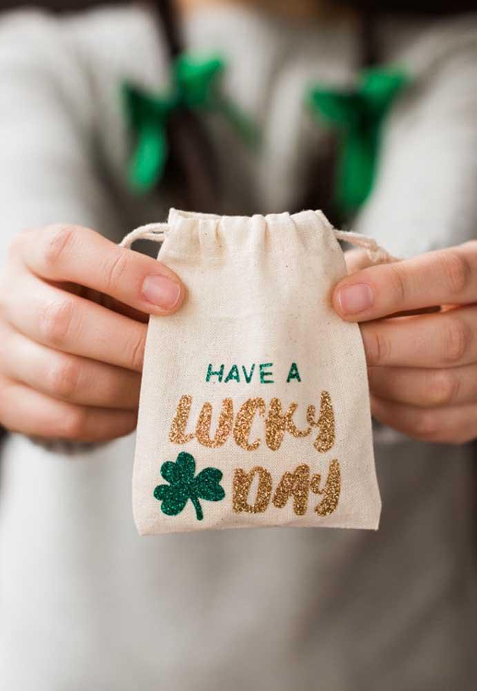 Tenha um bom dia! É o que sugere essas lembrancinhas de Saint Patrick
