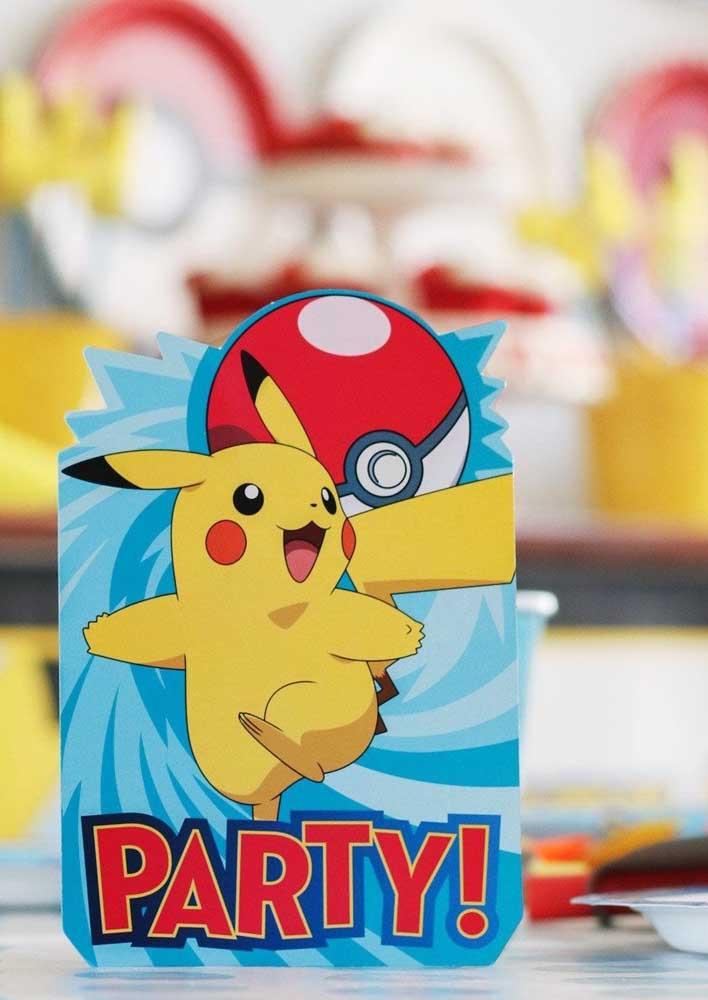 Que tal apostar em embalagens personalizadas para a festa pokemon?