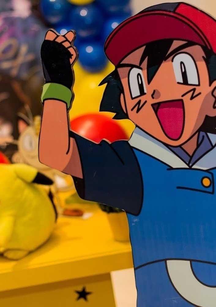 Que tal colocar os bonecos dos personagens para decorar o aniversário pokemon?