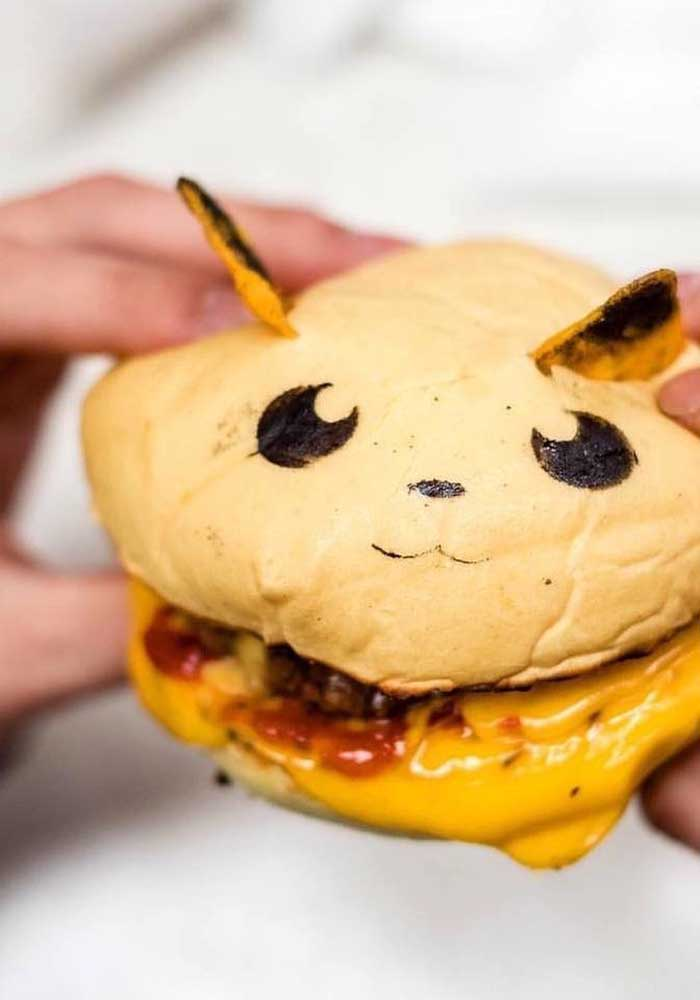 O sanduíche no formato de pikachu pode ser uma ótima opção para colocar no cardápio.