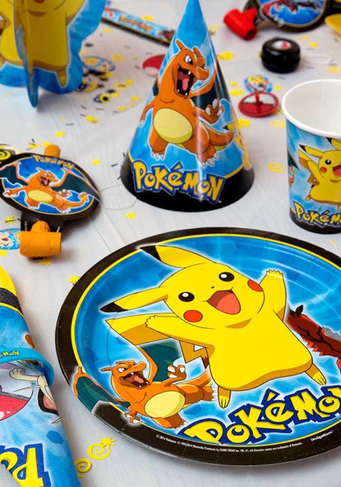 A festa pokemon deve contar com todos os itens personalizados para fazer a diferença.