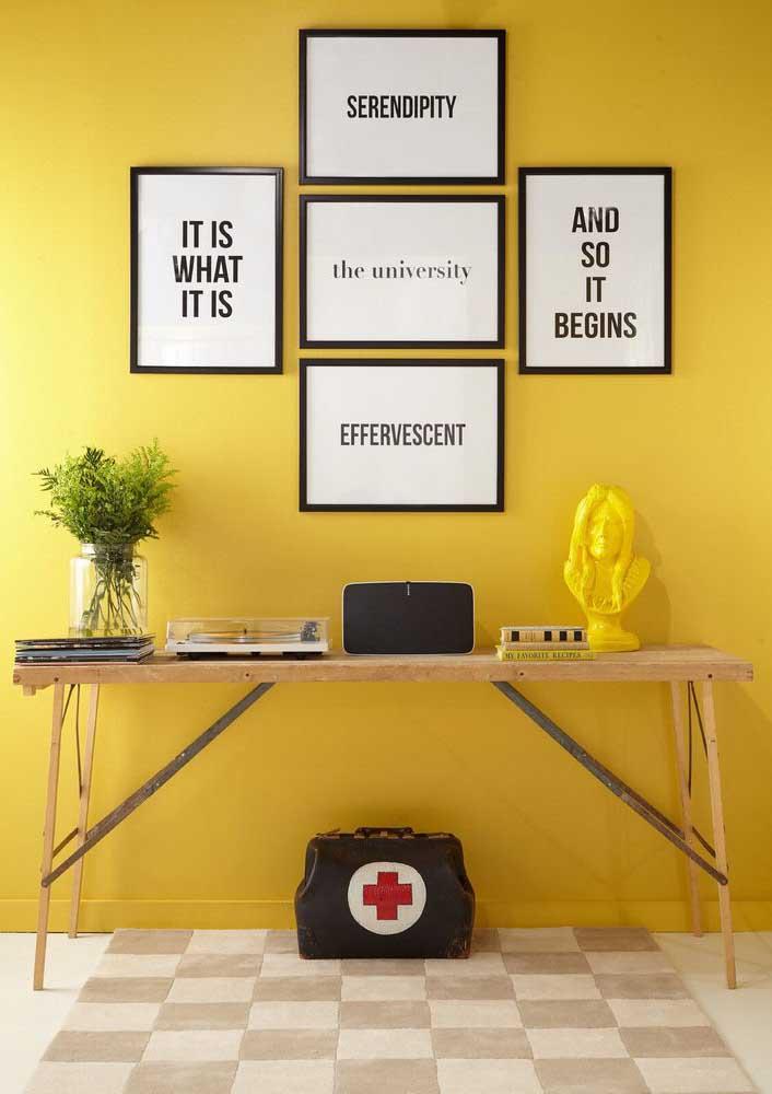 Não quer gastar muito? Invista apenas em uma parede amarela