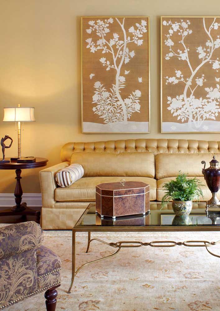 E para trazer aquela sensação de requinte e luxo, invista no uso do amarelo com dourado