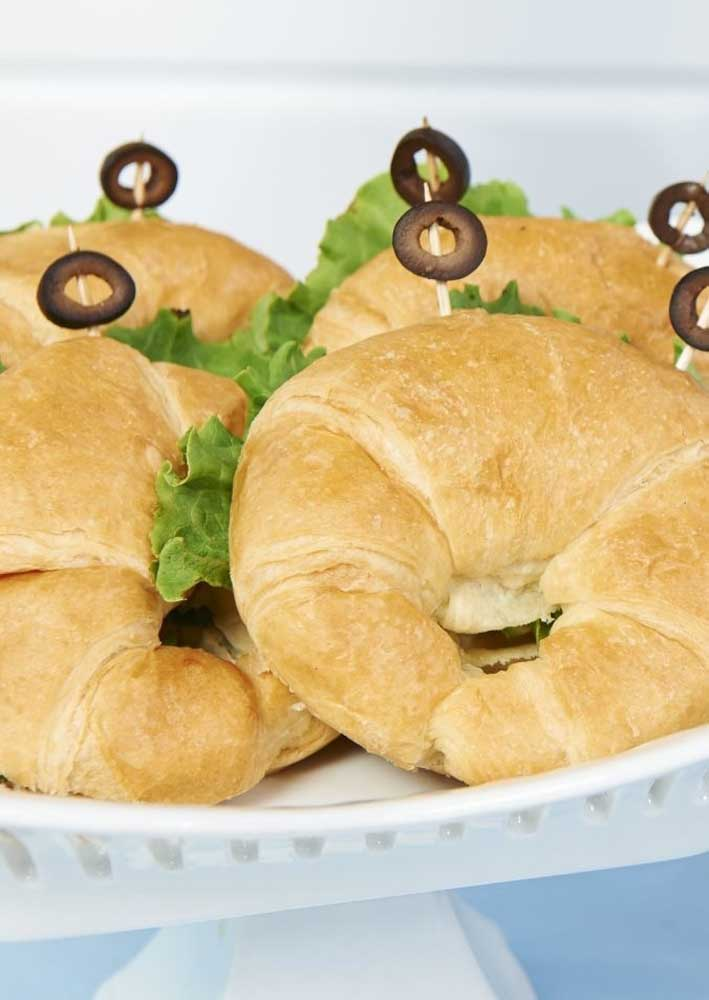 Vai um croissant aí? Sugestão para o cardápio da festa