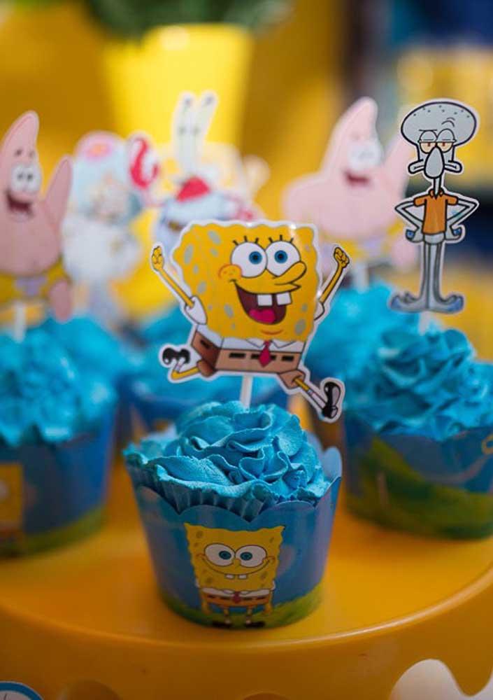 Cupcakes azuis da cor do mar!