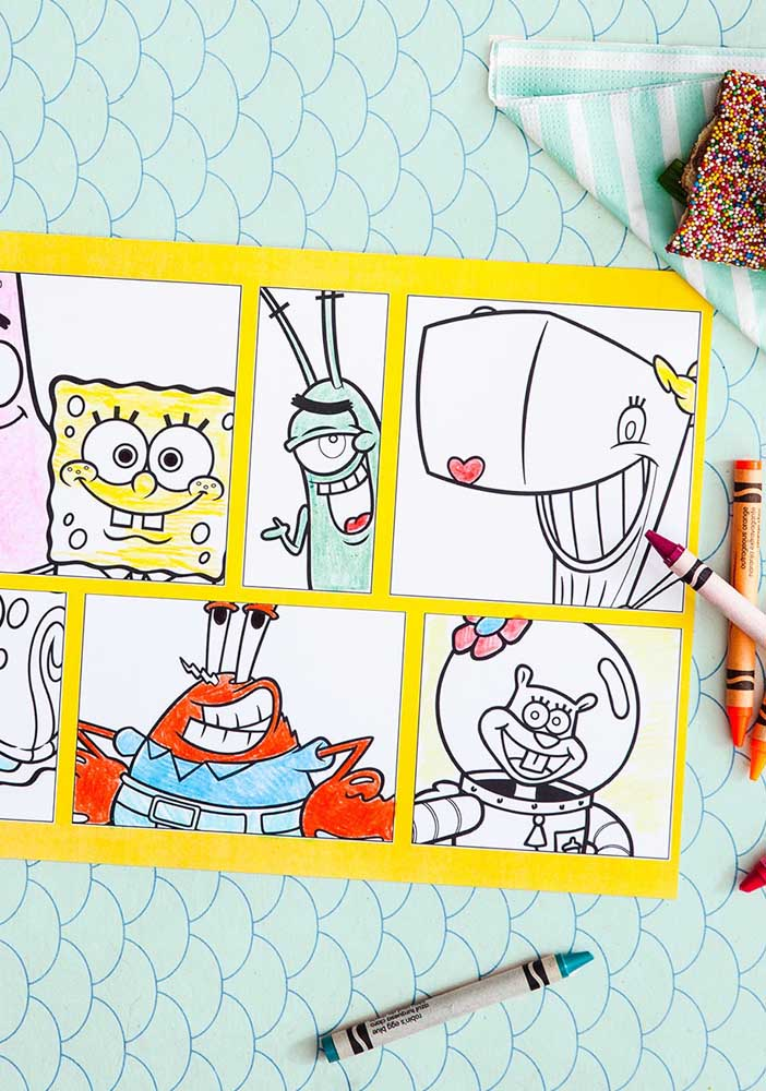 Para colorir e brincar bastante! Distribua kits de pintura durante a festa