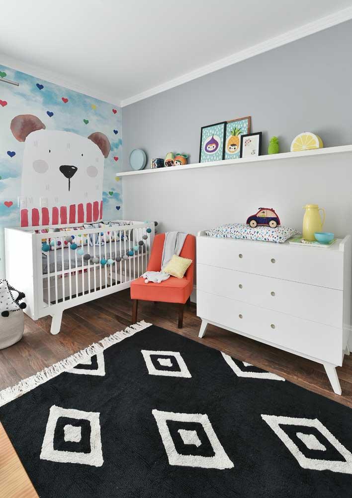 Pode ser que tudo o que o quarto do seu bebê precise é de uma boa ilustração na parede