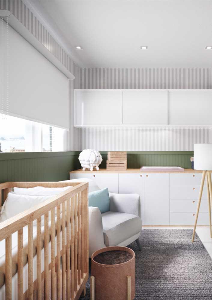 E o que dizer da combinação entre madeira clara e branco? Outro sucesso!