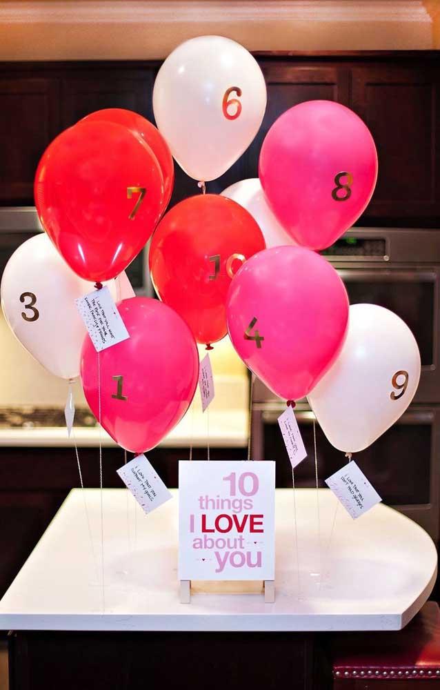 Quais são as 10 coisas que você mais ama na sua namorada?