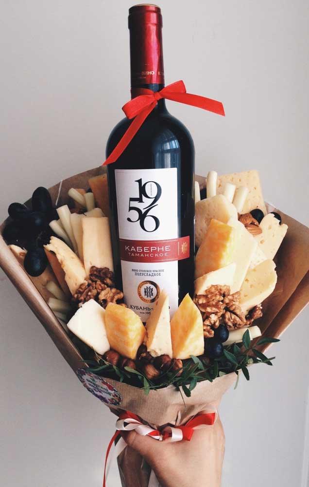 Buquê de queijos e vinho! Irresistível!