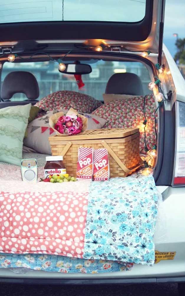 E não se esqueça de preparar um cantinho confortável dentro do carro