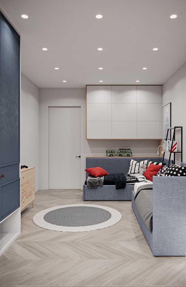 Organização para deixar o quarto pequeno aconchegante e funcional