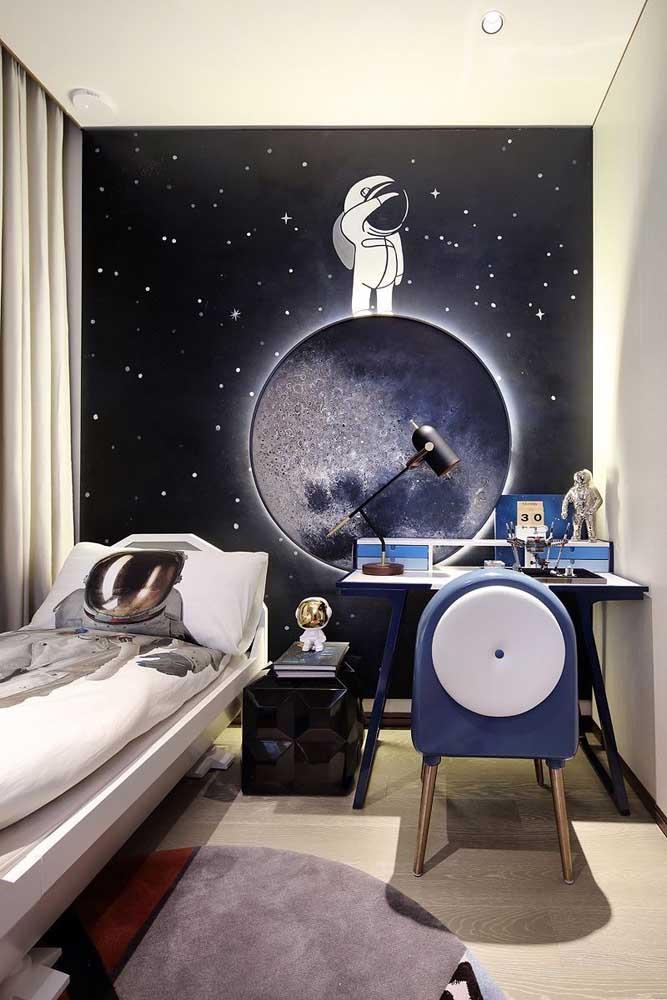 Escolha uma parede do quarto para ser a protagonista da decoração