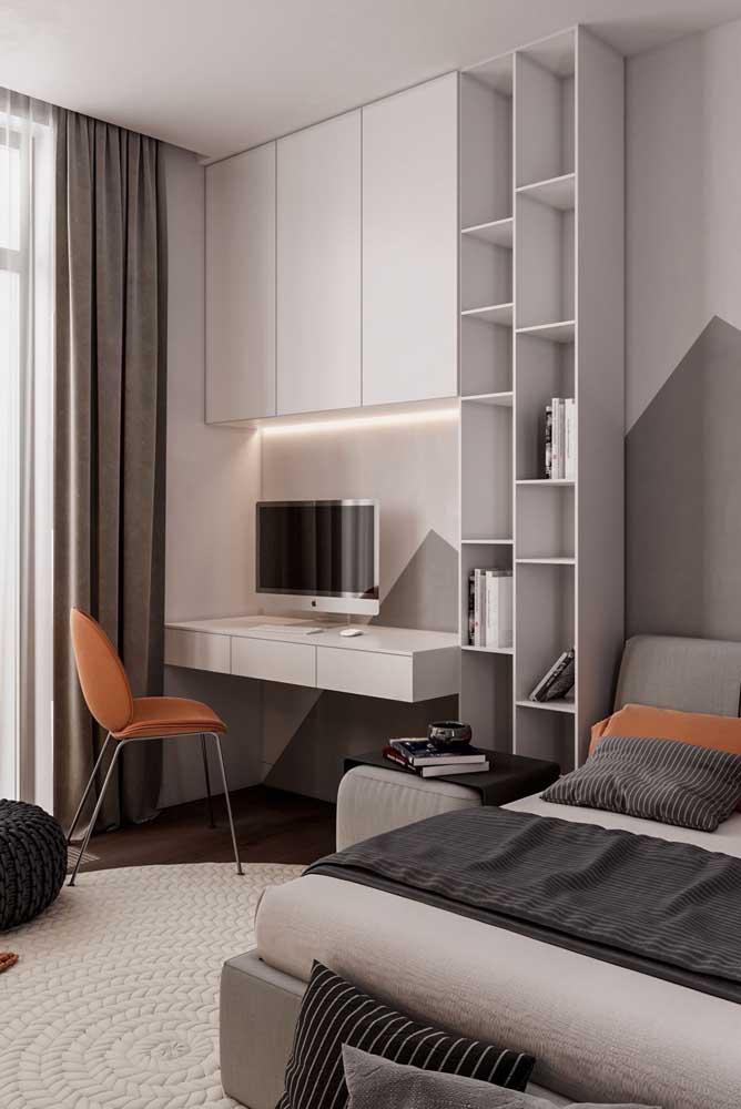 Do que você precisa no quarto de solteiro? Planeje tudo antes de comprar os móveis