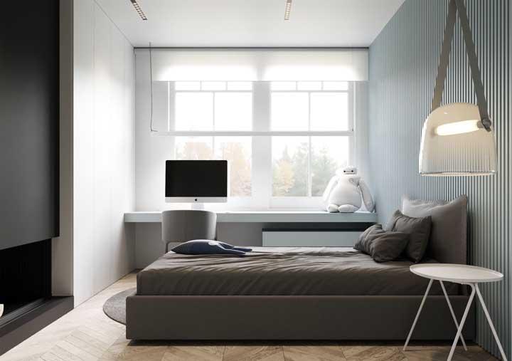 Minimalismo e luz natural: combinação perfeita para quartos pequenos