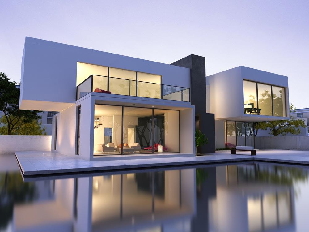 Casa minimalista por fora
