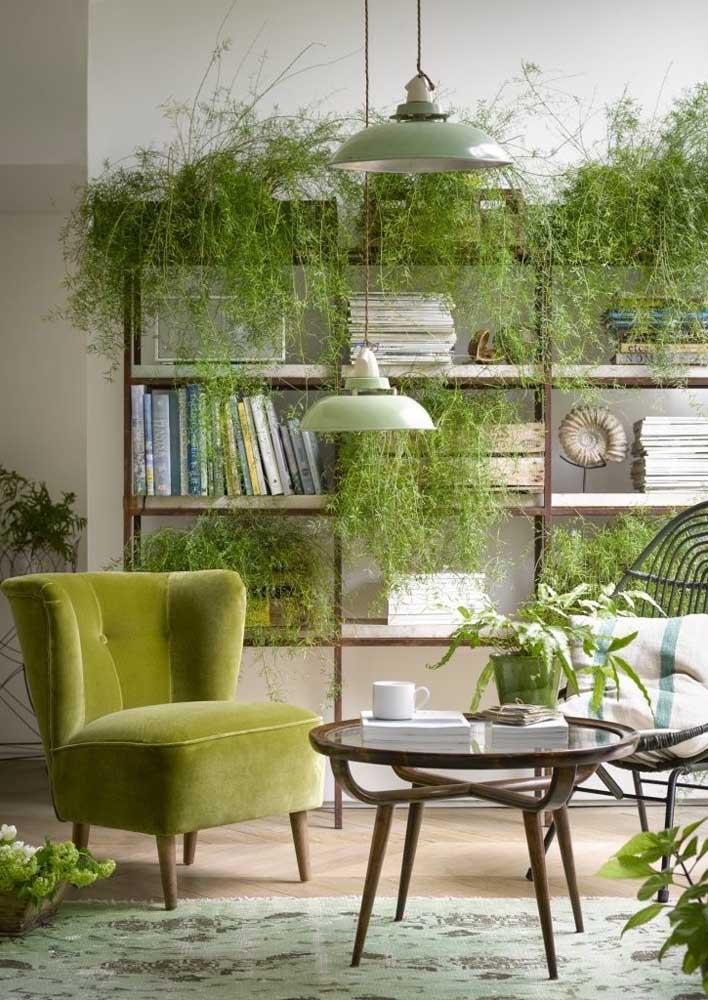 Nada melhor do que o verde natural das plantas! Aposte nessa ideia!