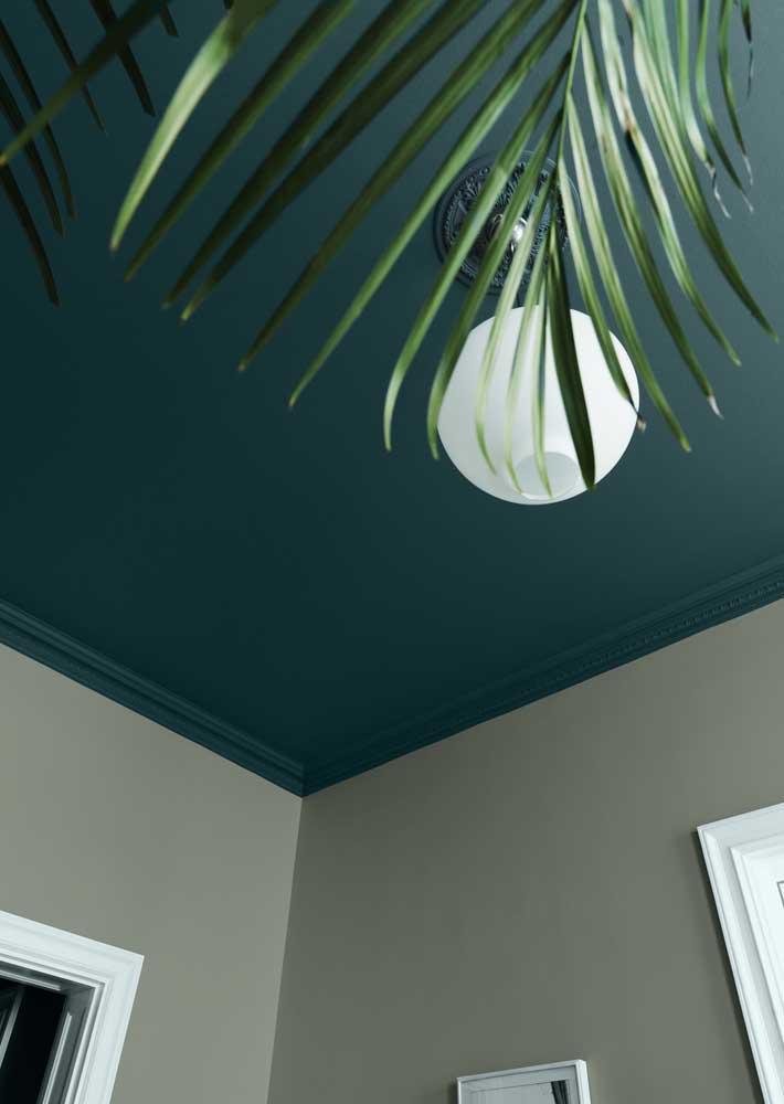 Aquele teto verde capaz de deixar qualquer um boquiaberto!