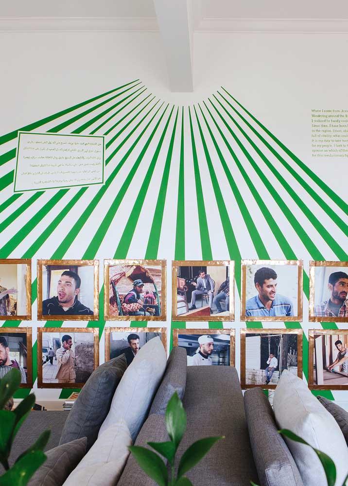 E se ao invés de pintar toda a parede de verde você fizer um desenho diferenciado?