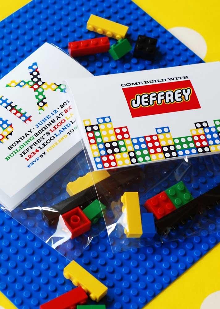 Pecinhas de Lego são uma ótima sugestão de lembrancinha do tema
