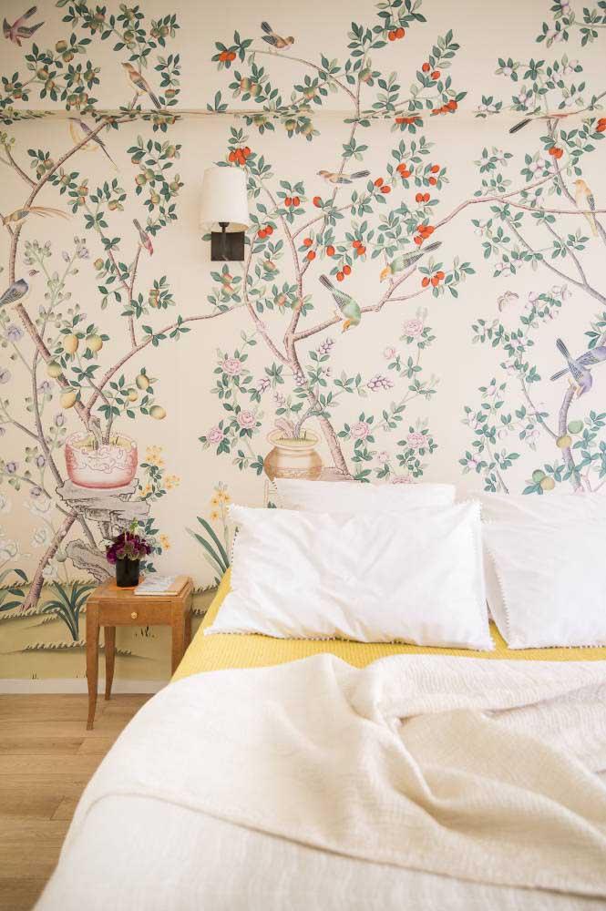 O poder de um papel de parede floral!