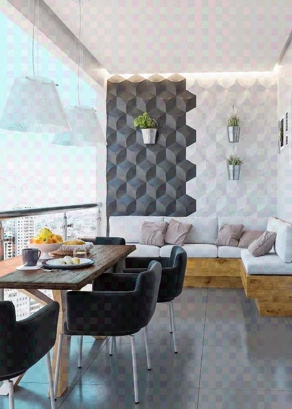 Sofá de canto para varanda. Uma ótima maneira de aproveitar melhor o espaço