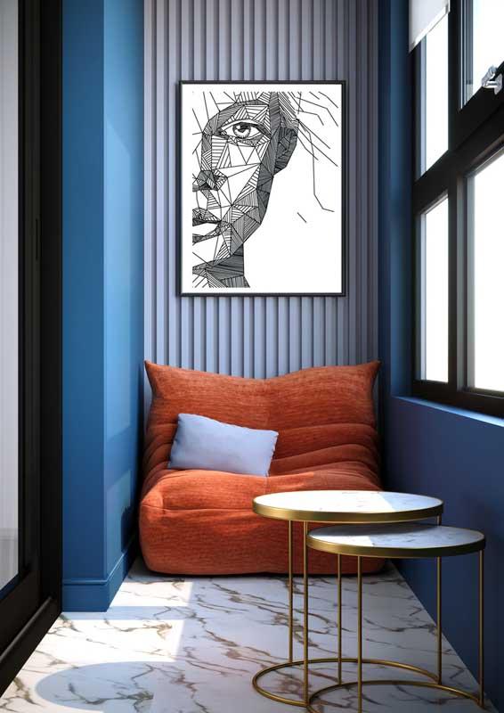 Um mimo esse pequeno sofá de bambu para varanda