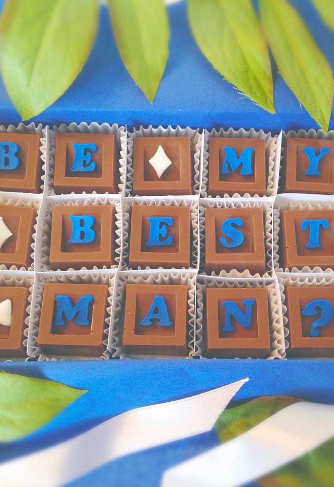 Chocolates também são uma ótima sugestão de mimo para os padrinhos
