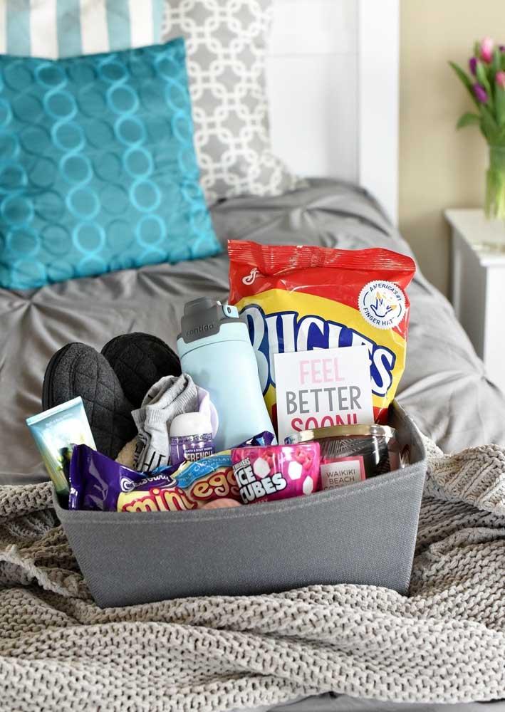 A caixa surpresa perfeita para passar o dia de preguiça na cama