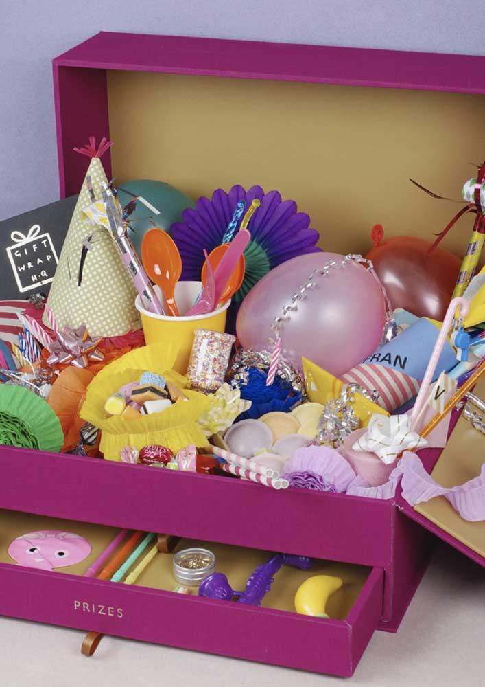 A festa toda está aqui, dentro da caixa!