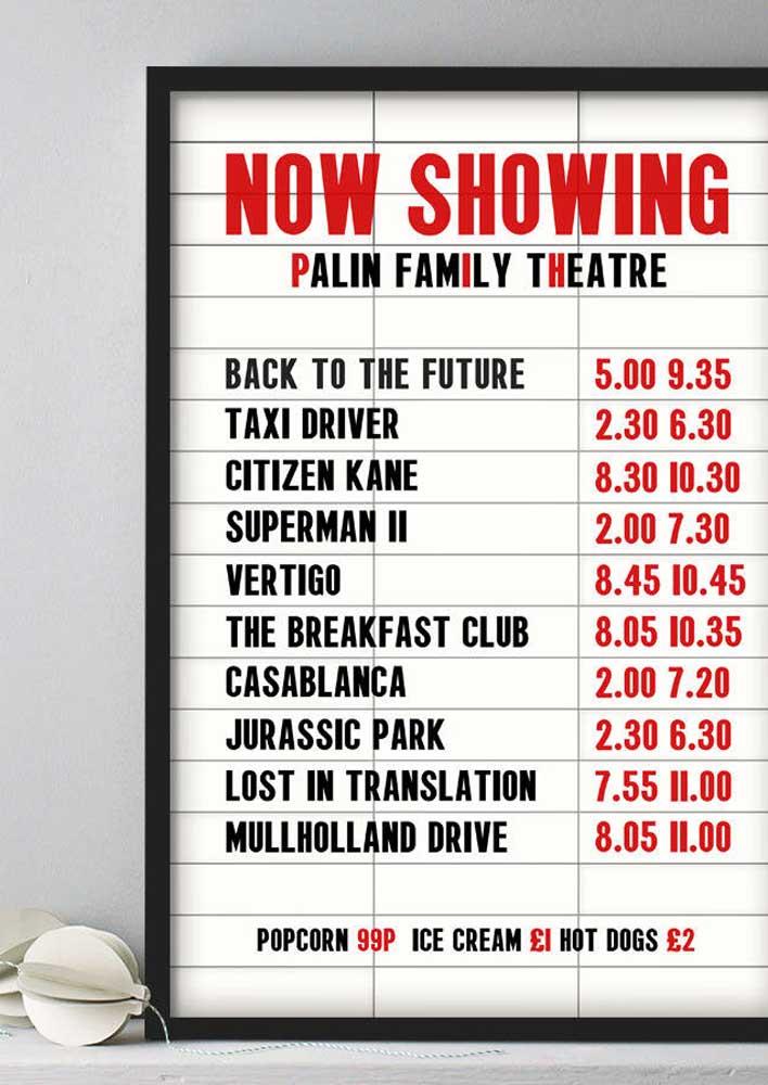 Esse painel para festa cinema simula um painel real de bilheteria