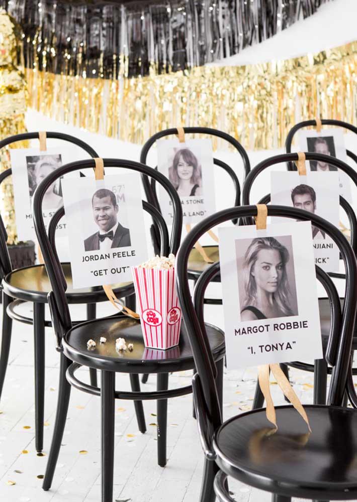 Olha que ideia legal: transforme seus convidados em grandes estrelas do cinema