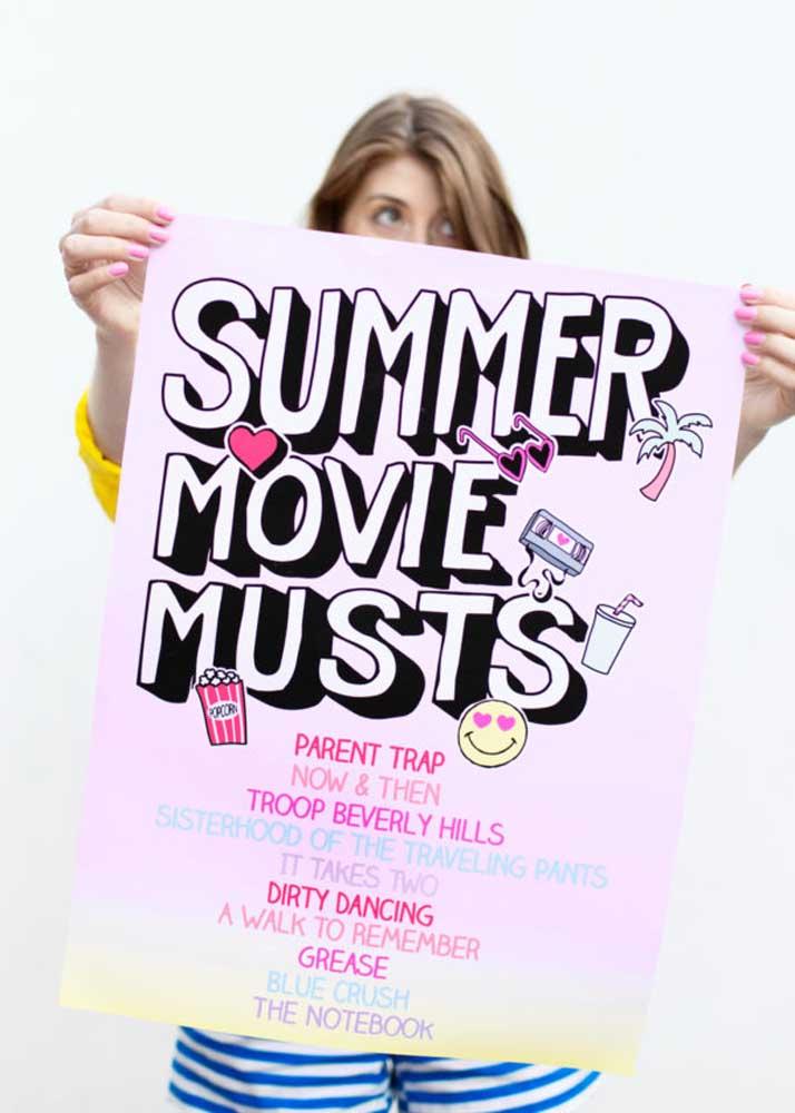O que acha de fazer uma lista com os seus filmes favoritos? Ela pode servir para uma votação ou simplesmente para decorar a festa