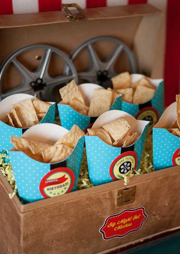 Chips! Ideia perfeita para festa cinema