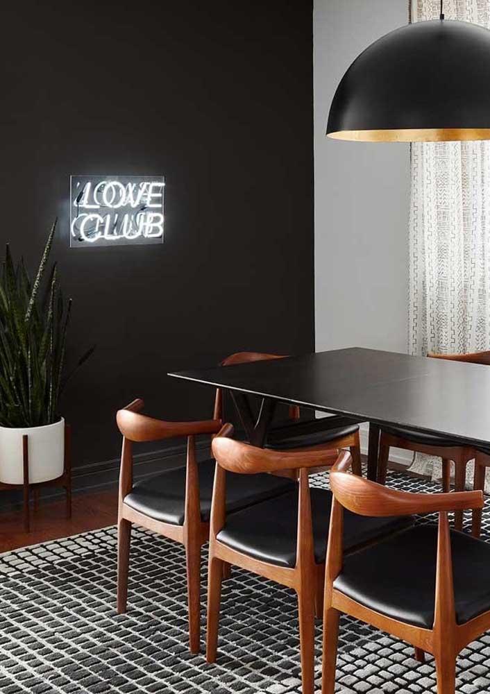 Letreiro neon para sala de jantar