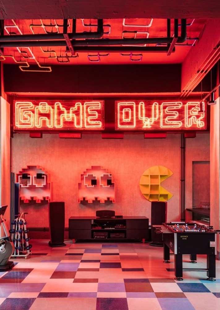 Letreiro neon para o espaço gamer