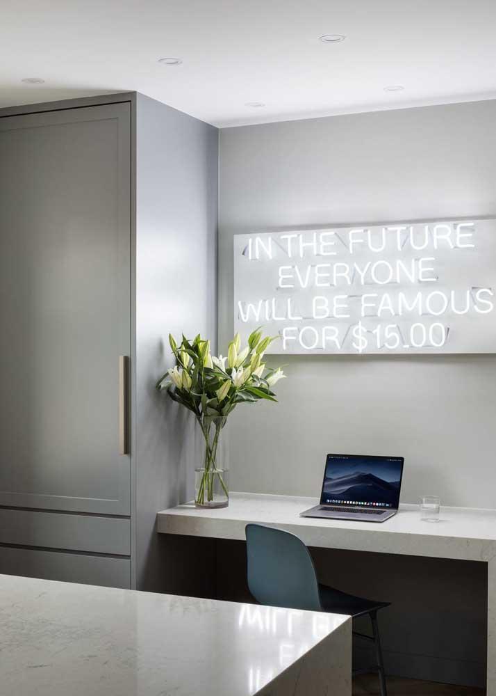 Neon para inspirar o local de trabalho