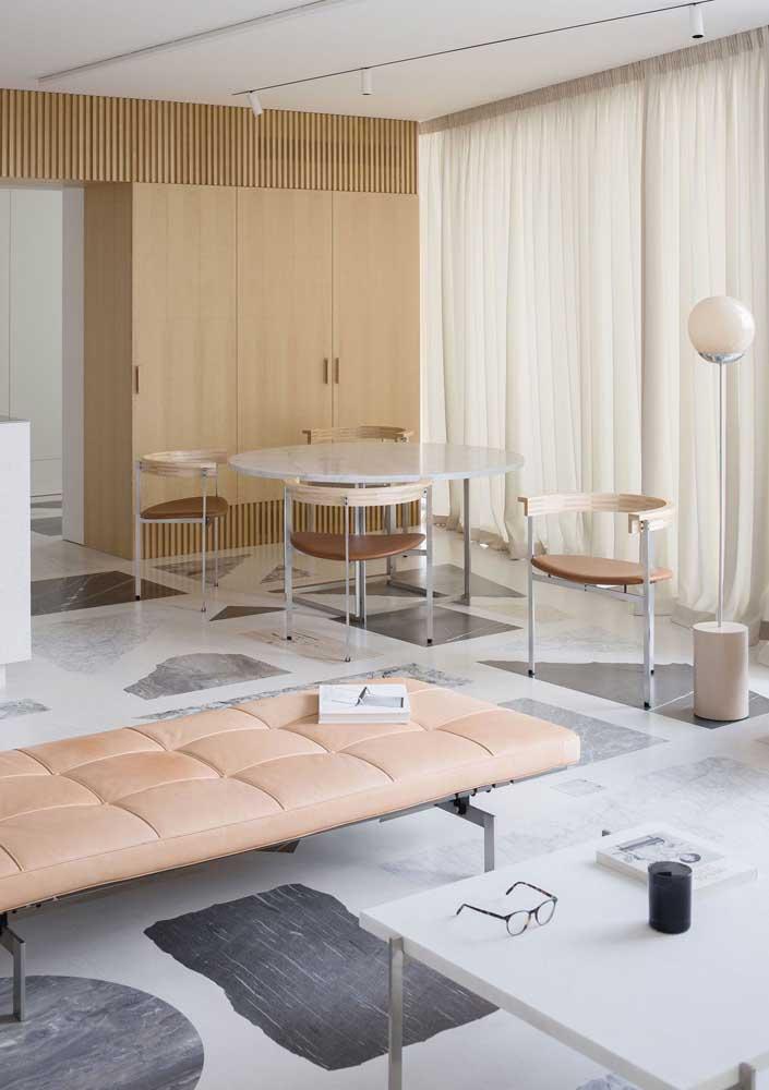 Granilite com formas geométricas para esse piso da sala de estar