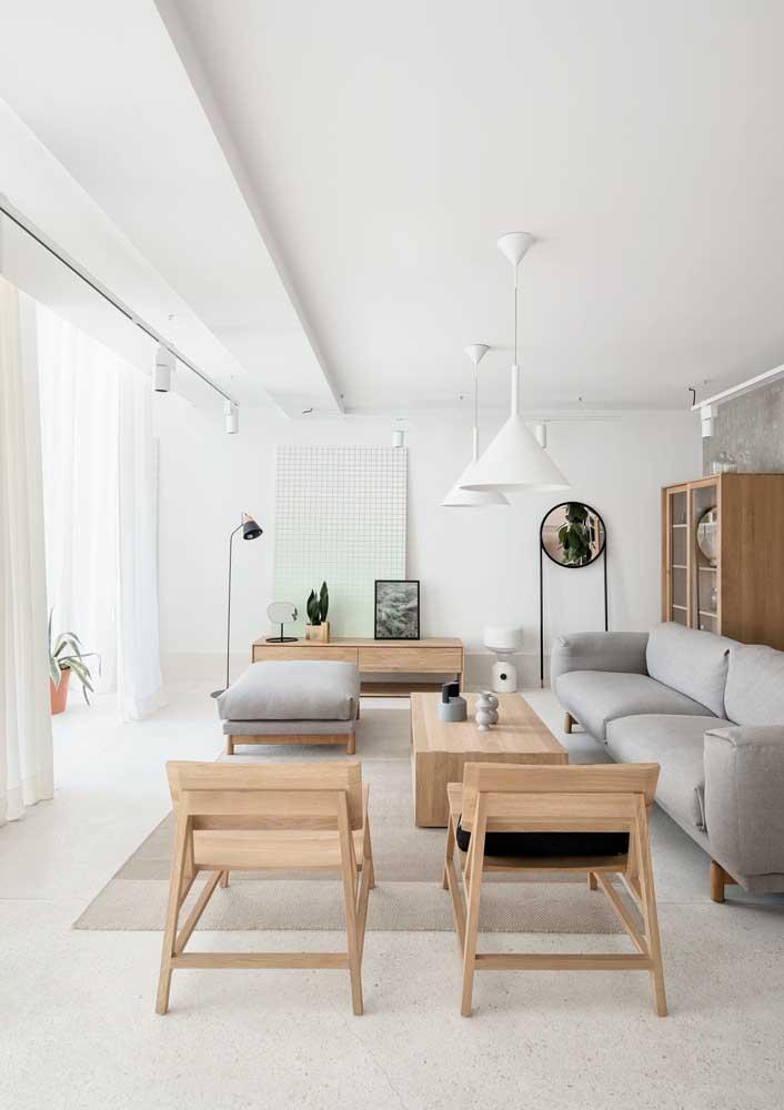 Piso granilite branco para quem deseja uma sala de estar clássica e elegante