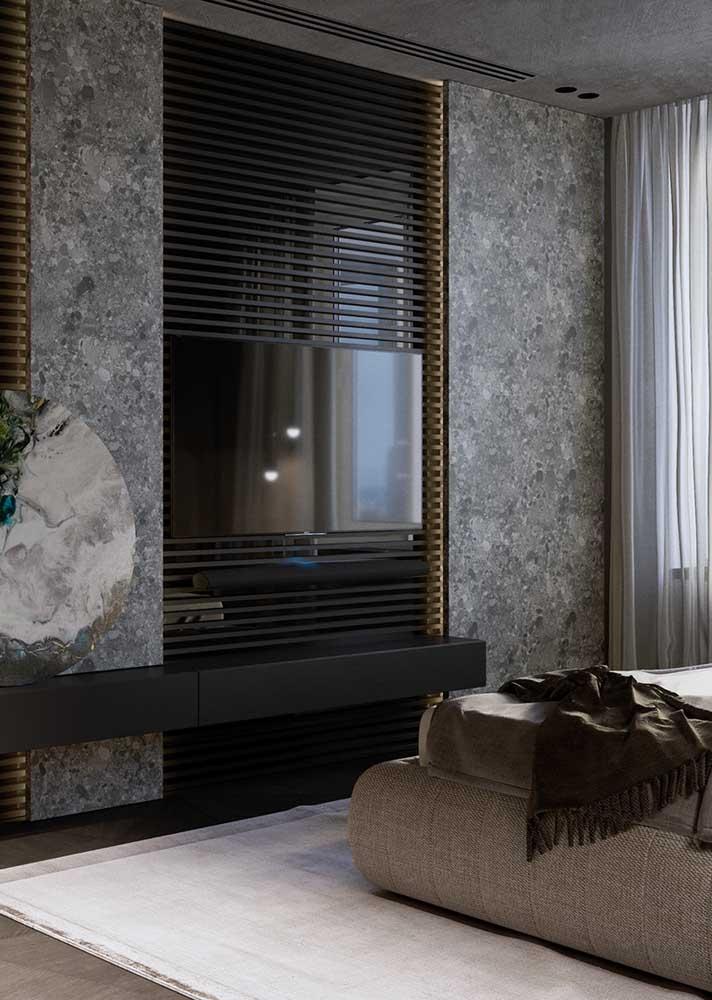 Granilite cinza para o quarto. Uma alternativa mais sofisticada do que o cimento queimado