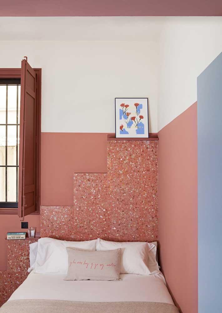 E que tal combinar o granilite com a cor da parede?