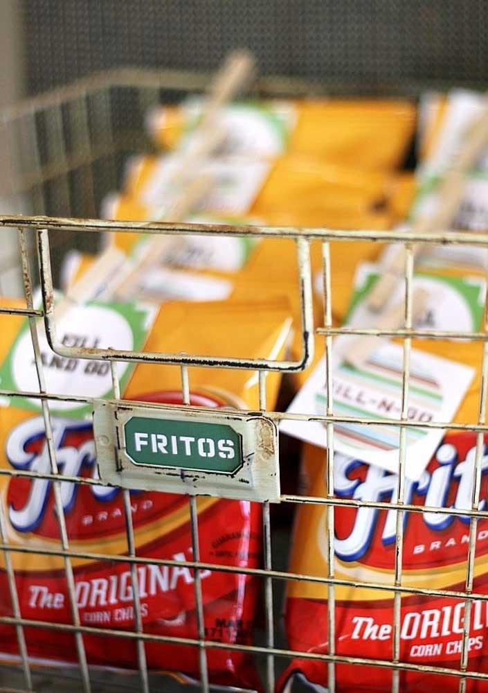 Batata chips como aperitivo