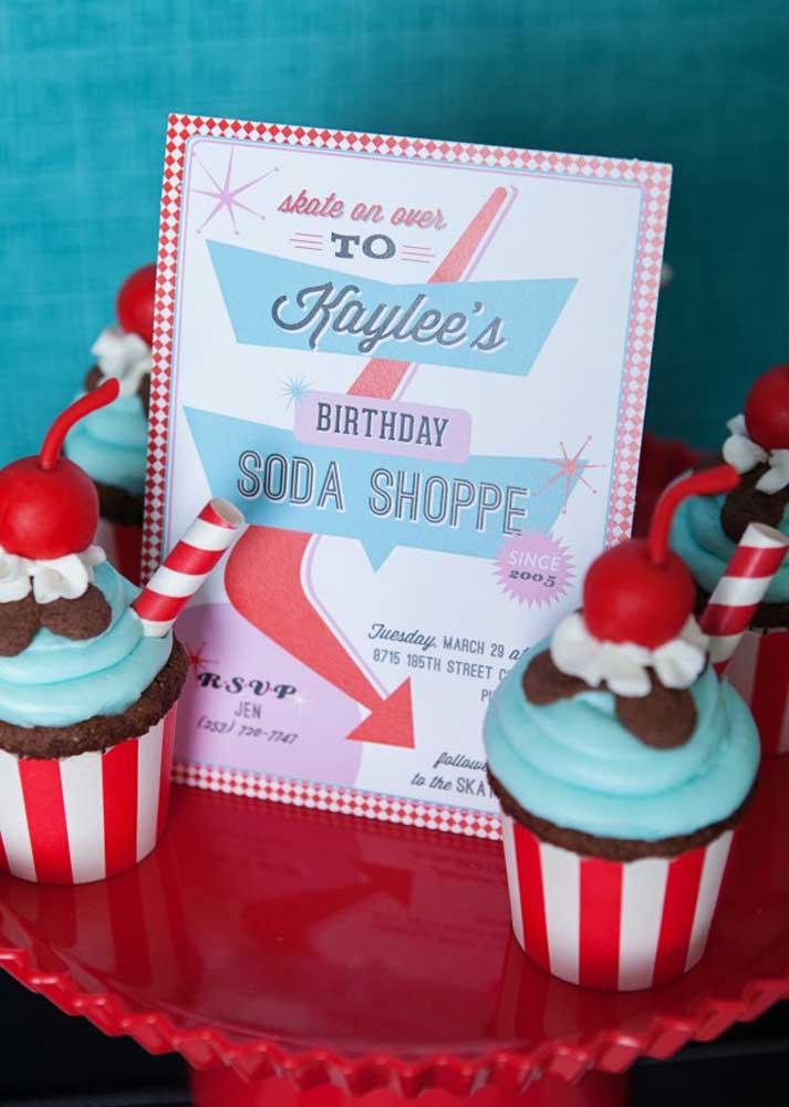 E para a sobremesa cupcakes!