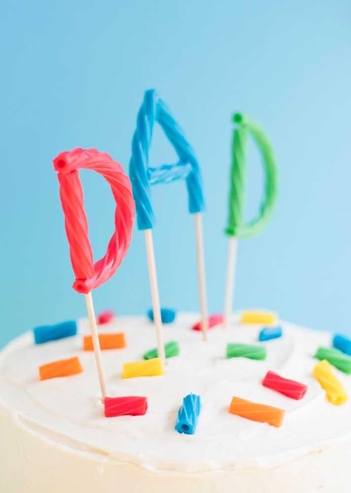 Não é um bolo qualquer! É um bolo para o dia dos pais!