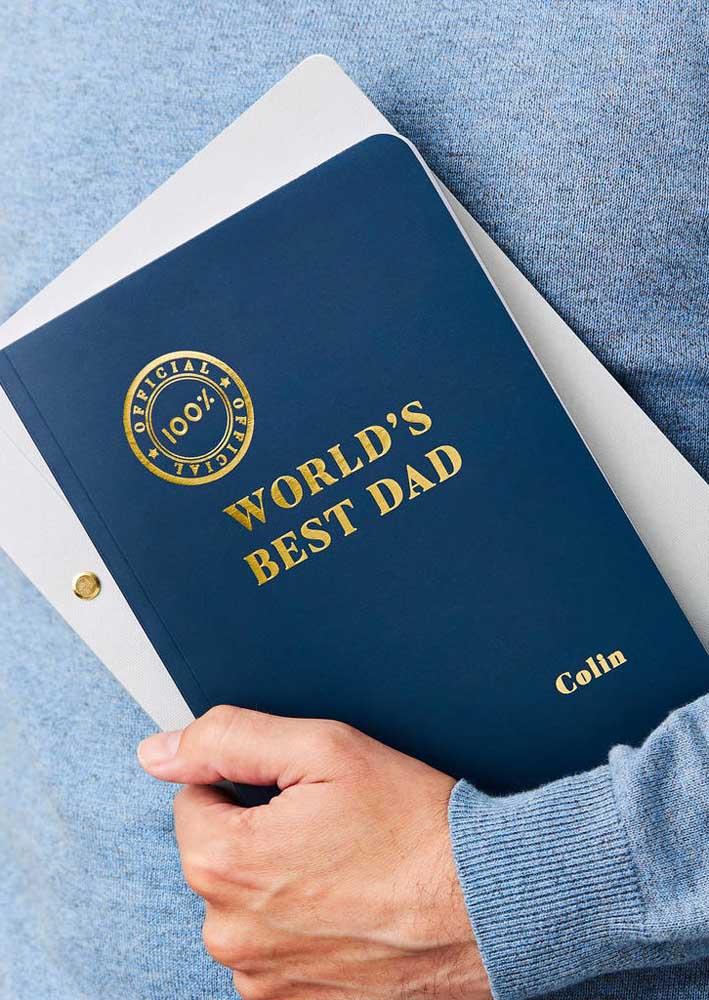 Já pensou em oferecer um certificado para o seu pai?
