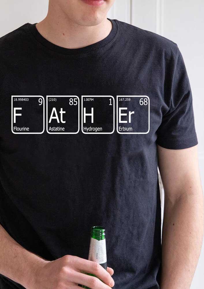 Pai é igual aos elementos da tabela periódica! Presente bem criativo